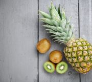 Feature Image: Prepping Pineapple and Kiwi