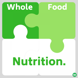 Image illustrating how whole foods fit into nutrition.