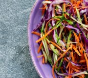 Feature Image: Asian Slaw with Ginger-Garlic Dressing