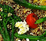 Feature Image: Broccolini, Goat's Cheese, and Ancient Grain Salad