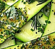 Feature Image: Marinated Zucchini